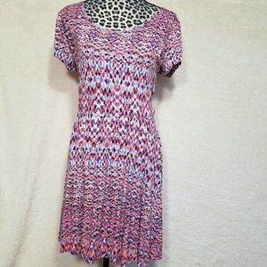 Decree XL Fit Flare Cut Out Back Printed Dress
